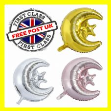 18 inch Moon Star Foil Balloons Mubarak Decor Star Moon Helium Eid maild Balloon